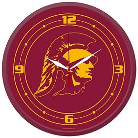 USC Trojans Round Clock