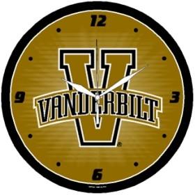 Vanderbilt Commodores Round Clock