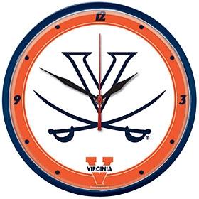 Virginia Cavaliers Round Clock