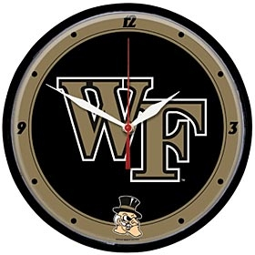 Wake Forest Demon Deacons Round Clock