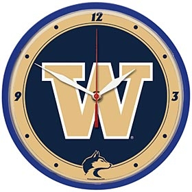 Washington Huskies Round Clock
