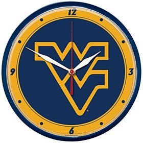 West Virginia Mountaineers Round Clock