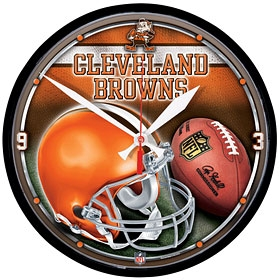 Cleveland Browns Round Clock