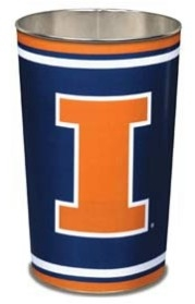 Illinois Fighting Illini Wastebasket