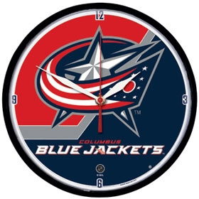 Columbus Blue Jackets Round Clock