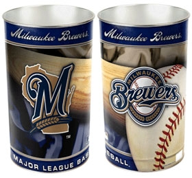 Milwaukee Brewers Wastebasket