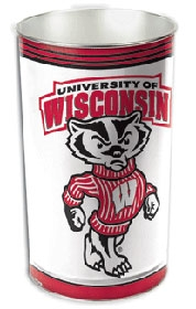 Wisconsin Badgers Wastebasket
