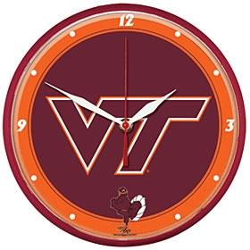 Virginia Tech Hokies Round Clock