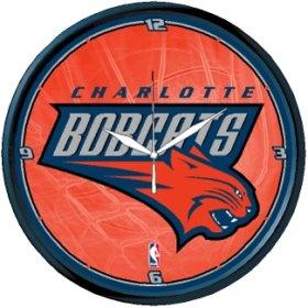 Charlotte Bobcats Round Clock