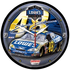 Jimmie Johnson Round Clock