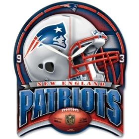 New England Patriots High Definition Clock