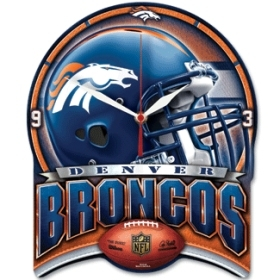 Denver Broncos High Definition Clock