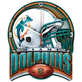 Miami Dolphins High Definition Clock