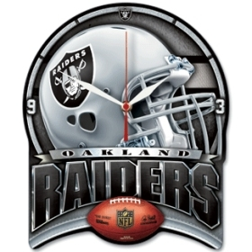 Oakland Raiders High Definition Clock
