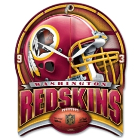 Washington Redskins High Definition Clock