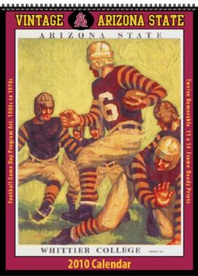 Arizona State Sun Devils 2010 Vintage Football Program Calendar