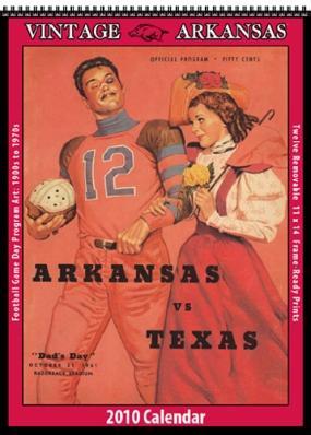 Arkansas Razorbacks 2010 Vintage Football Program Calendar