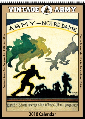 Army Black Knights 2010 Vintage Football Program Calendar