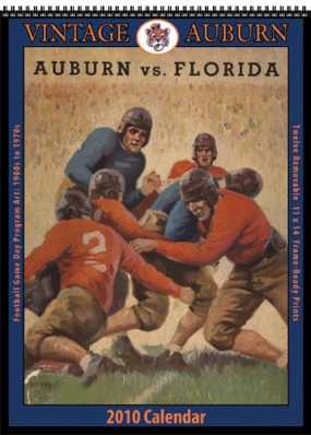 Auburn Tigers 2010 Vintage Football Program Calendar