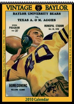 Baylor Bears 2010 Vintage Football Program Calendar