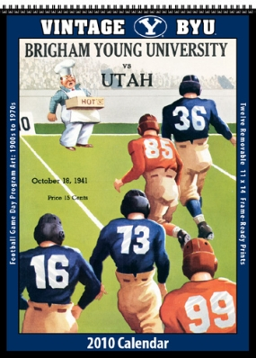 Brigham Young Cougars 2010 Vintage Football Program Calendar