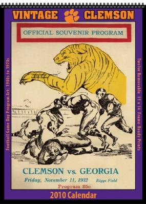 Clemson Tigers 2010 Vintage Football Program Calendar