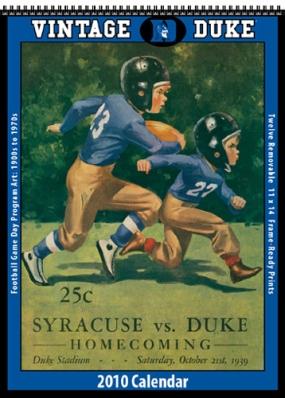 Duke Blue Devils 2010 Vintage Football Program Calendar
