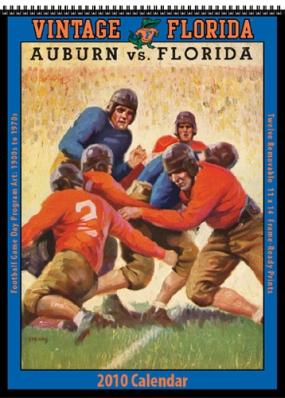 Florida Gators 2010 Vintage Football Program Calendar