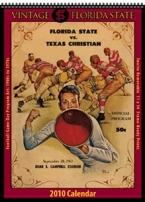 Florida State Seminoles 2010 Vintage Football Program Calendar