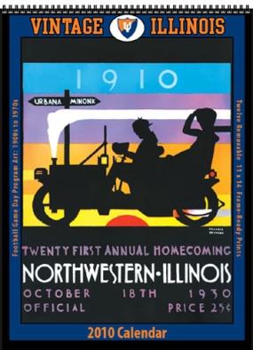 Illinois Fighting Illini 2010 Vintage Football Program Calendar