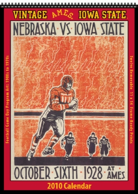 Iowa State Cyclones 2010 Vintage Football Program Calendar