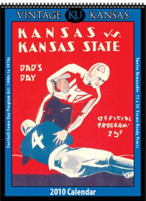 Kansas Jayhawks 2010 Vintage Football Program Calendar