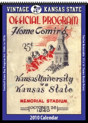 Kansas State Wildcats 2010 Vintage Football Program Calendar