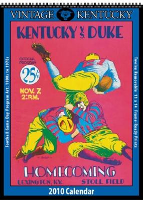 Kentucky Wildcats 2010 Vintage Football Program Calendar