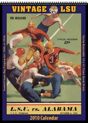 LSU Tigers 2010 Vintage Football Program Calendar