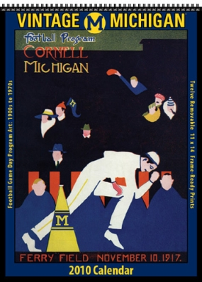 Michigan Wolverines 2010 Vintage Football Program Calendar