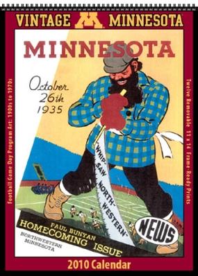 Minnesota Golden Gophers 2010 Vintage Football Program Calendar