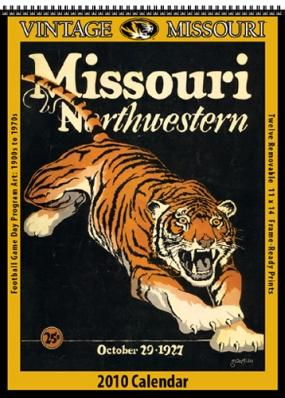 Missouri Tigers 2010 Vintage Football Program Calendar