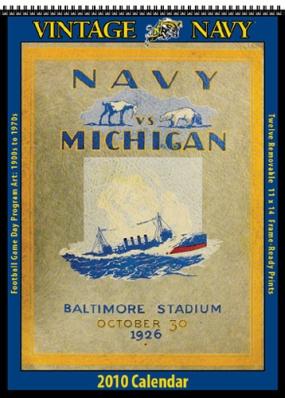 Navy Midshipmen 2010 Vintage Football Program Calendar