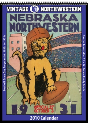 Northwestern Wildcats 2010 Vintage Football Program Calendar