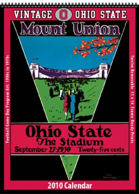 Ohio State Buckeyes 2010 Vintage Football Program Calendar