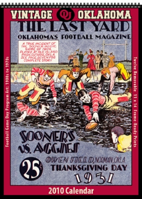 Oklahoma Sooners 2010 Vintage Football Program Calendar