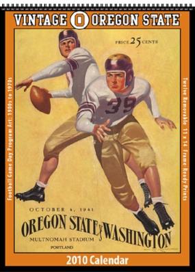 Oregon State Beavers 2010 Vintage Football Program Calendar