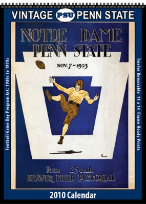 Penn State Nittany Lions 2010 Vintage Football Program Calendar