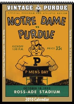 Purdue Boilermakers 2010 Vintage Football Program Calendar