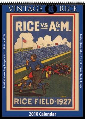 Rice Owls 2010 Vintage Football Program Calendar