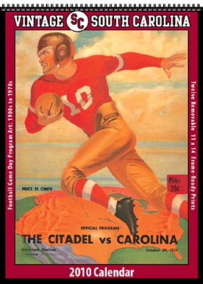 South Carolina Gamecocks 2010 Vintage Football Program Calendar