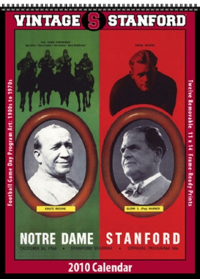 Stanford Cardinal 2010 Vintage Football Program Calendar