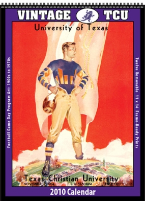 TCU Horned Frogs 2010 Vintage Football Program Calendar