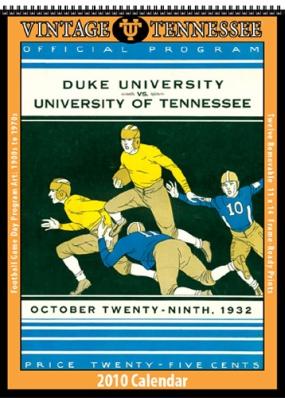 Tennessee Volunteers 2010 Vintage Football Program Calendar